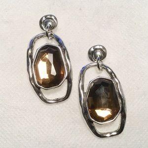Jewelry - Coffee Crystal Metal Earrings